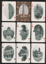 Antique Collectible  playing cards. Historic Boston souvenir deck